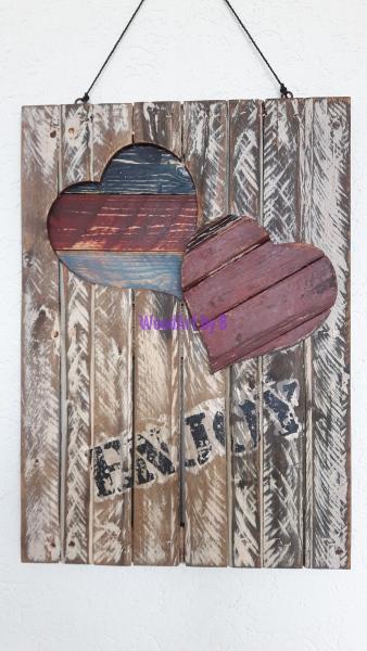 Wandboard mit zwei Herzen Dekoration und Accessoire