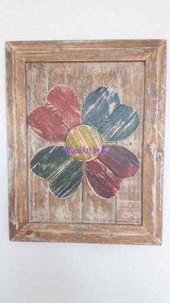 Bild mit Blume mit Rahmen Dekoration und Accessoire