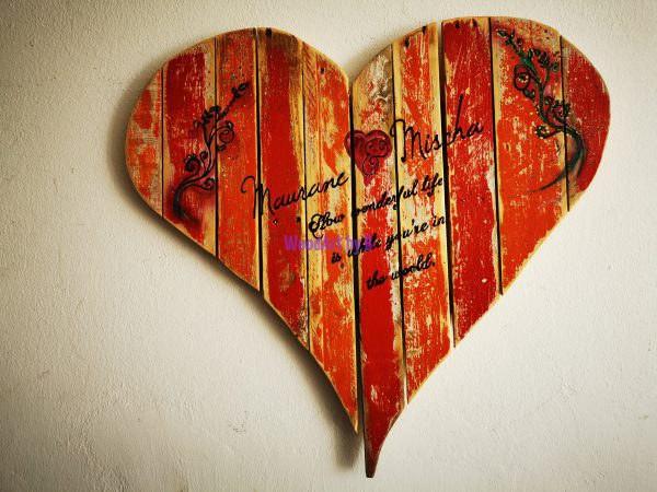 Hochzeit mit Herz Frontale