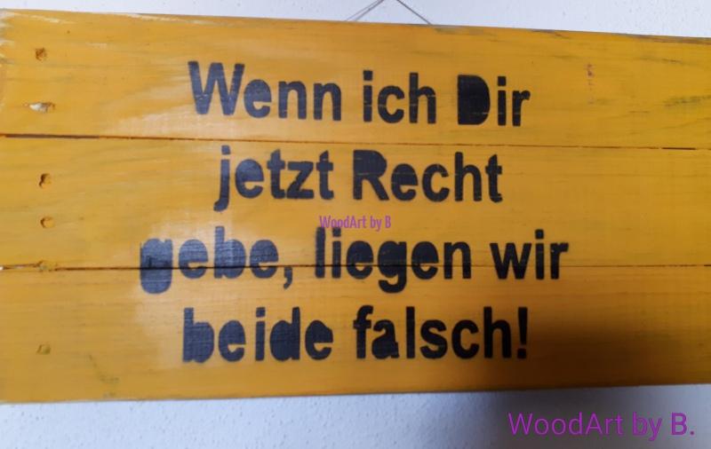 WoodArt by B. Recht gebe Wanddeko_Sprücheklopfer