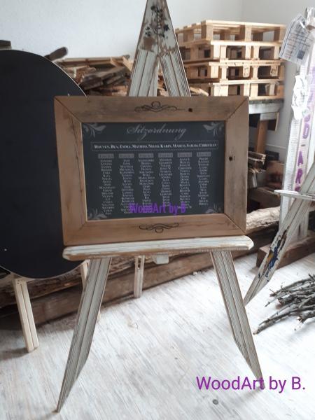 Tafel mit Druck und Staffelei -Kundenauftrag-