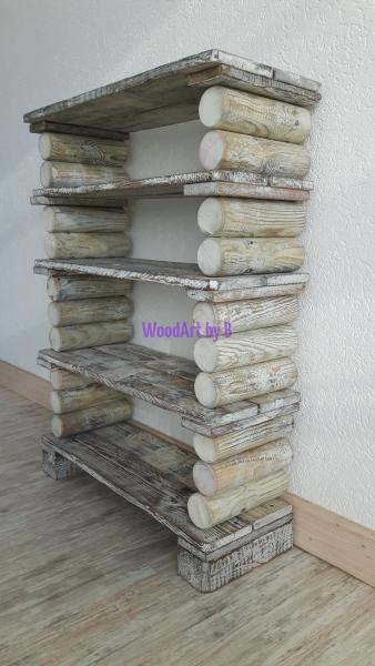 Schuhregal aus Paletten - Einzelteilen und Palisadenstücken Regale und Aufbewahrung