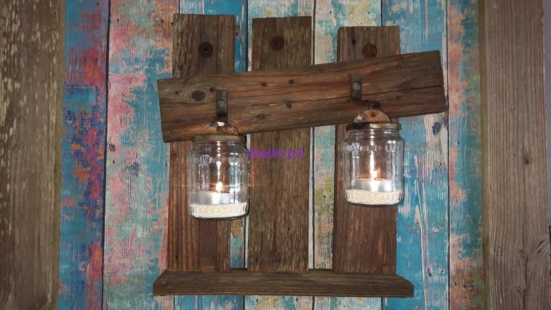 Windlicht mit Altholz Dekoration und Accessoire