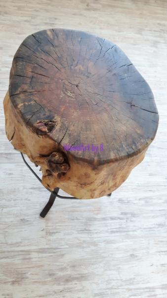 Beistell-Tisch aus Holz - Draufsicht