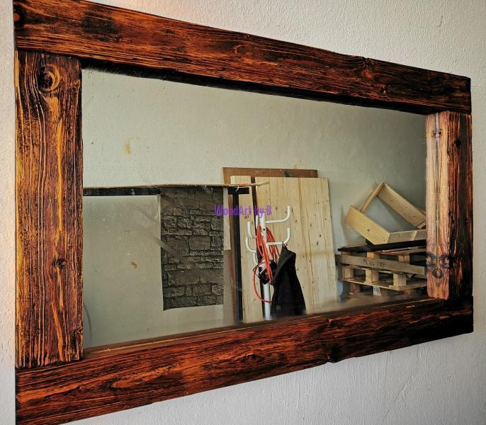 Spiegelrahmen im Balkendesign