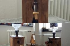 Whisky Spender aus Altholz und Baumscheibe