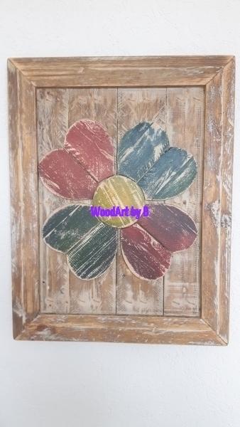 Bild mit Blume mit Rahmen