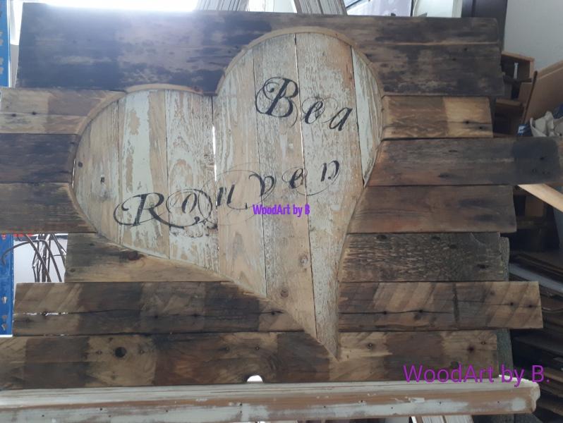Herz auf Altholz -Kundenauftrag-