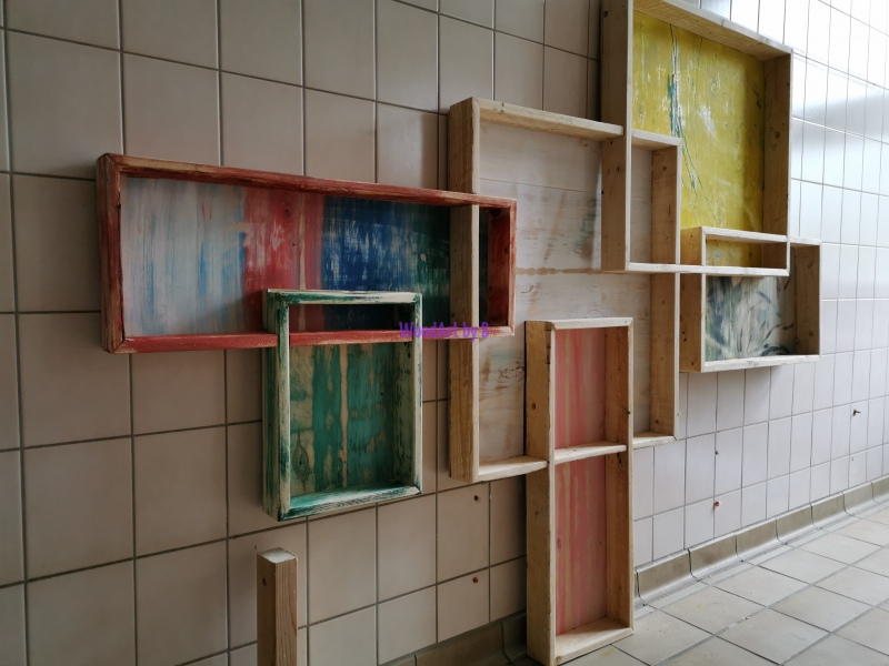 Wandgestaltung in Arbeit
