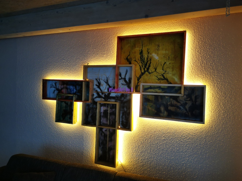 Wandgestaltung mit Beleuchtung