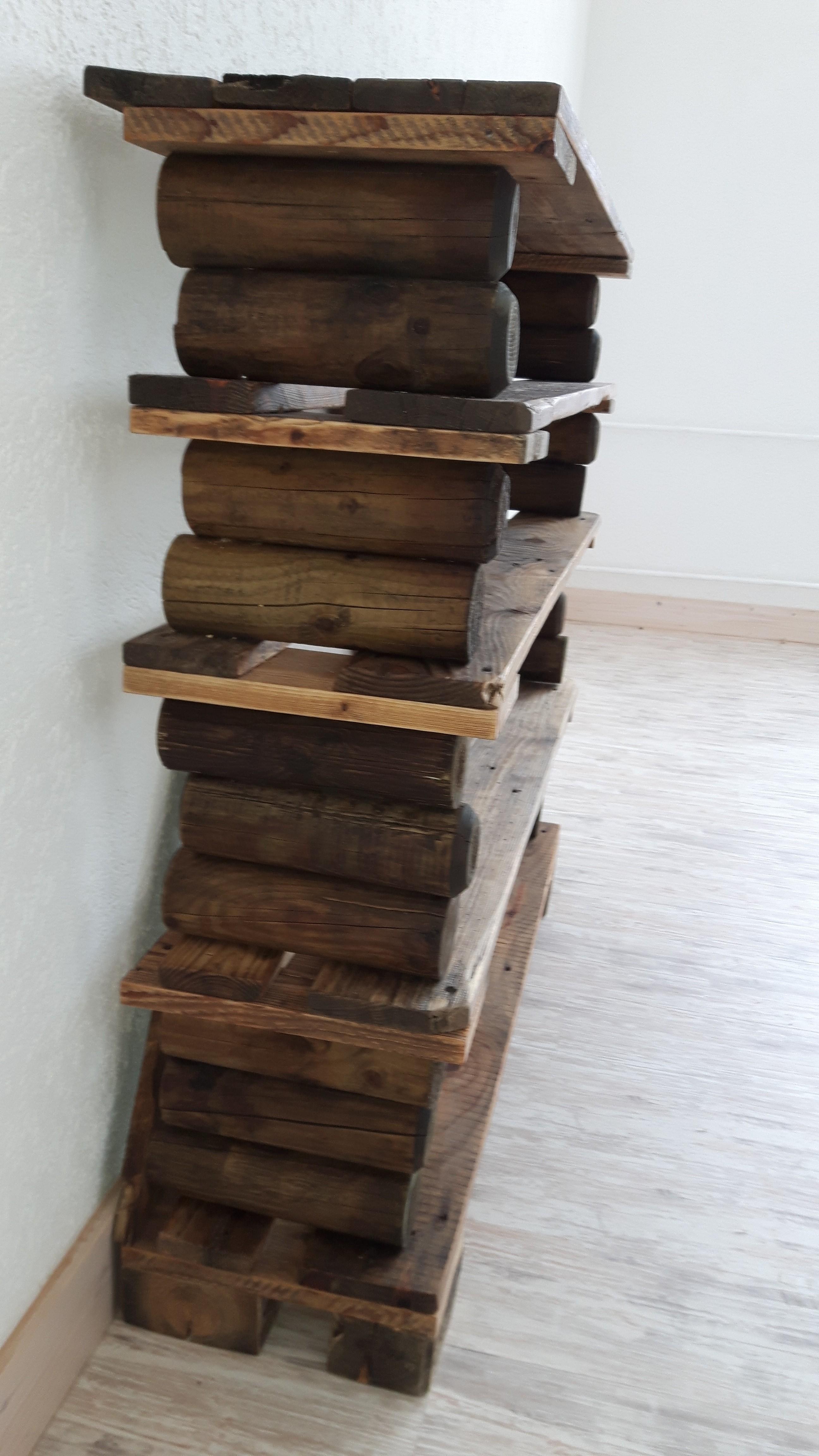 Schuhregal aus paletteneinzelteilen   woodart by b