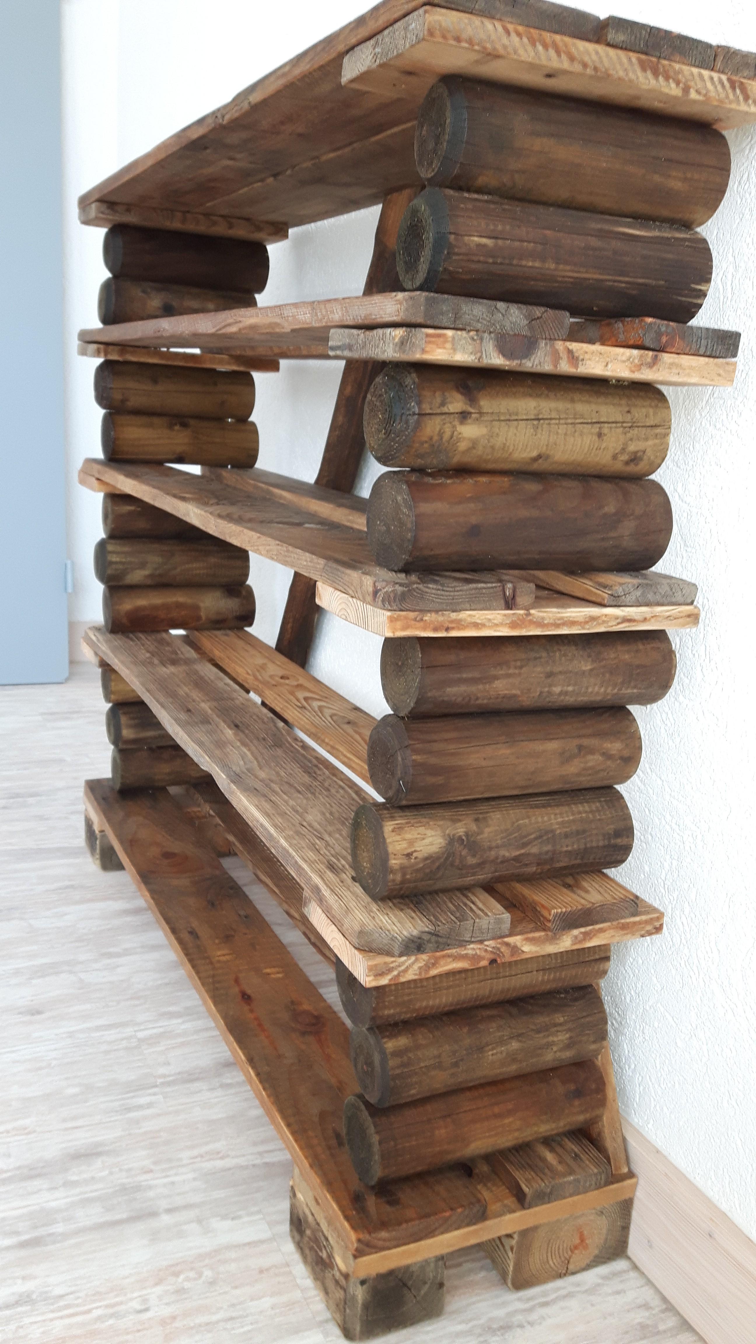 schuhregal aus paletteneinzelteilen woodart by b. Black Bedroom Furniture Sets. Home Design Ideas