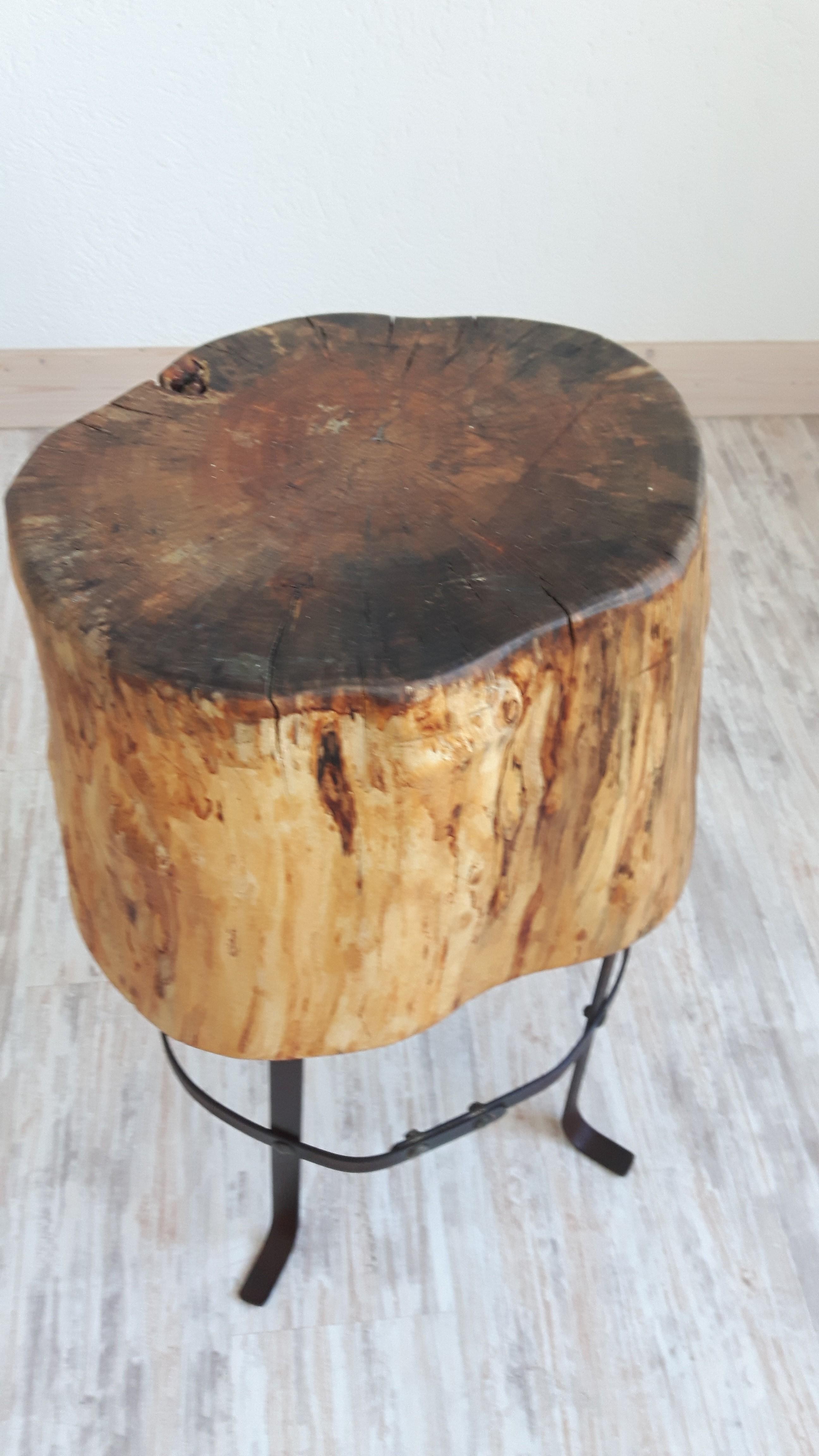 beistell tisch aus baumstumpf woodart by b. Black Bedroom Furniture Sets. Home Design Ideas