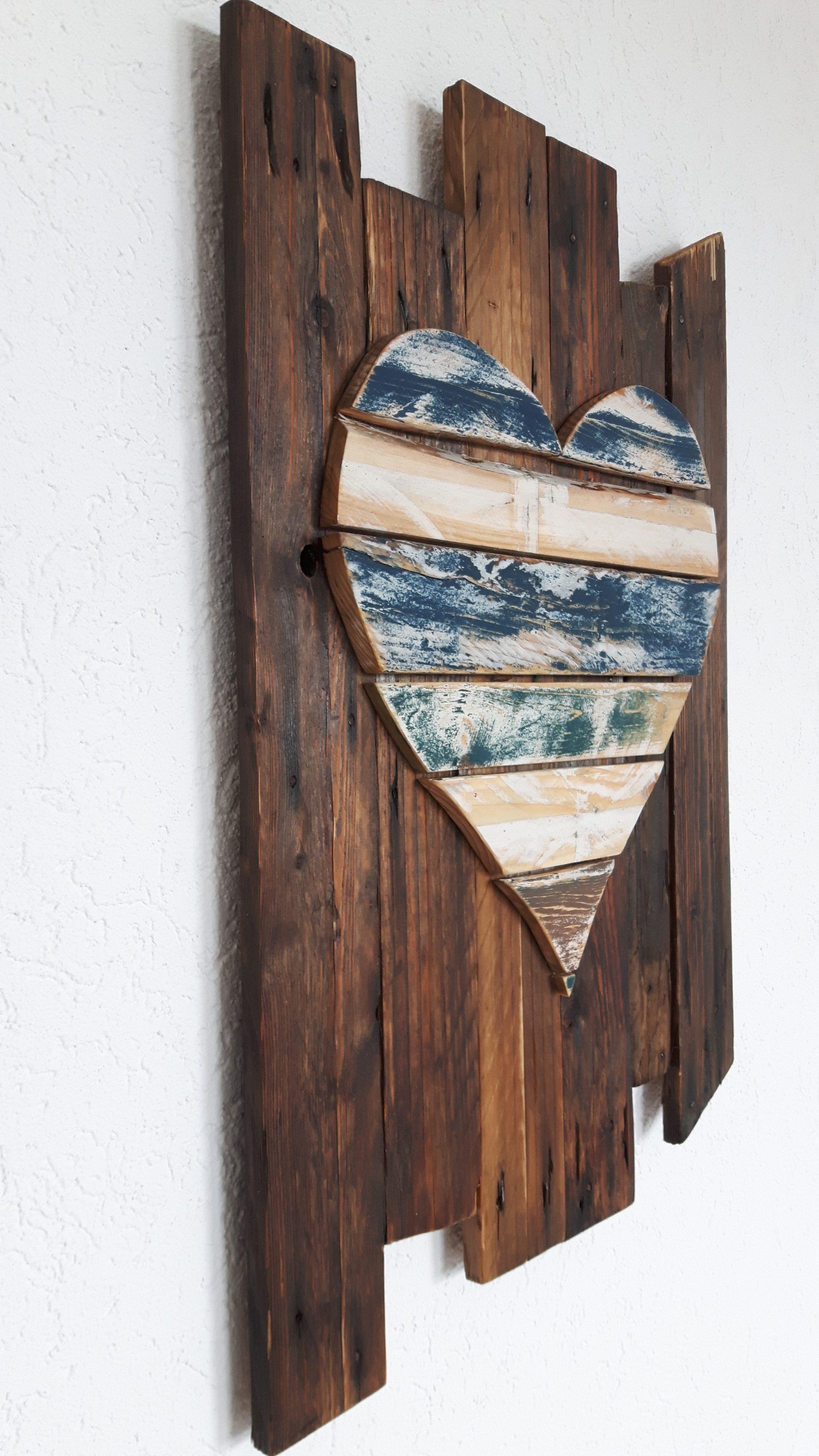 wanddekoration aus altholz woodart by b. Black Bedroom Furniture Sets. Home Design Ideas
