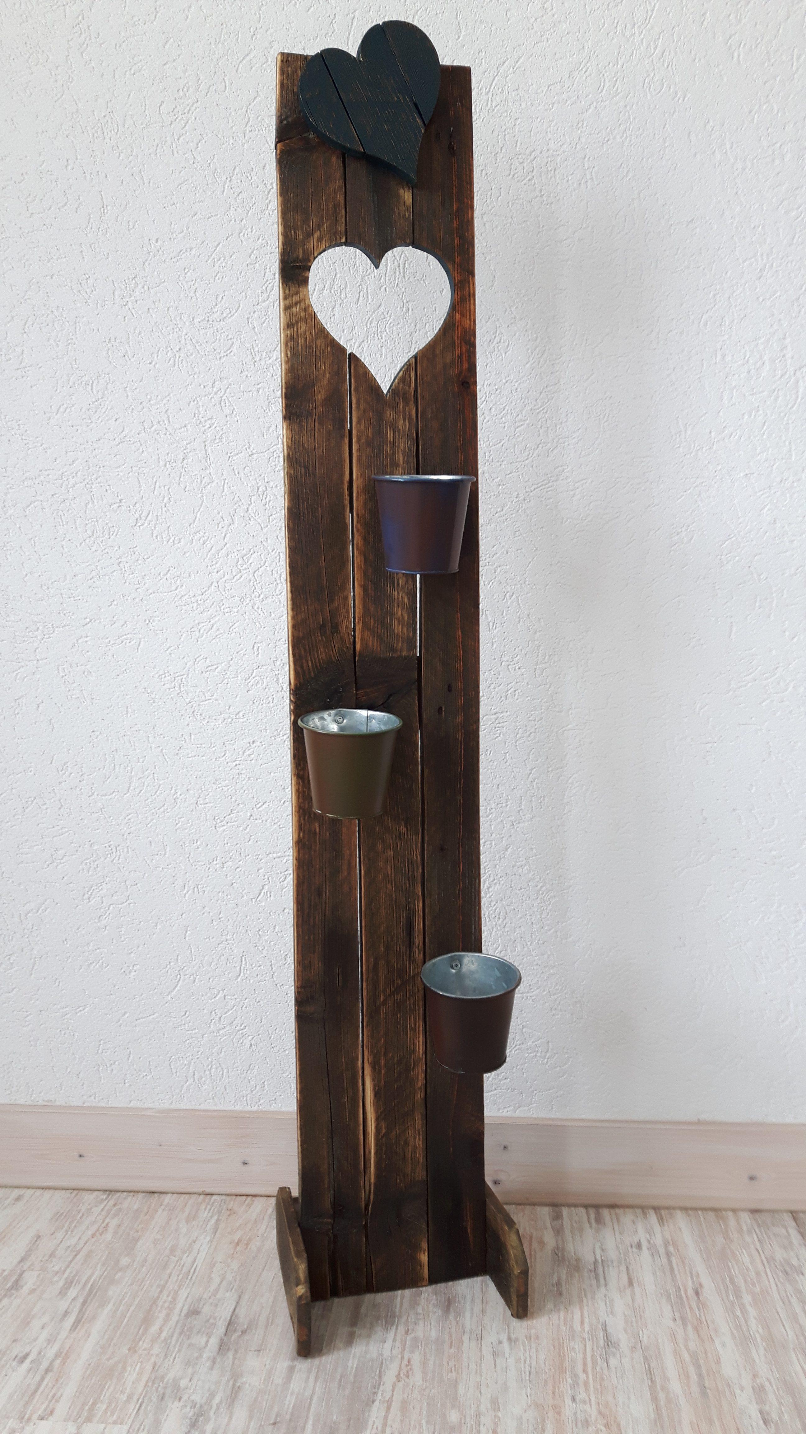 verschiedene aufsteller aus altholz f r pflanzen woodart by b. Black Bedroom Furniture Sets. Home Design Ideas