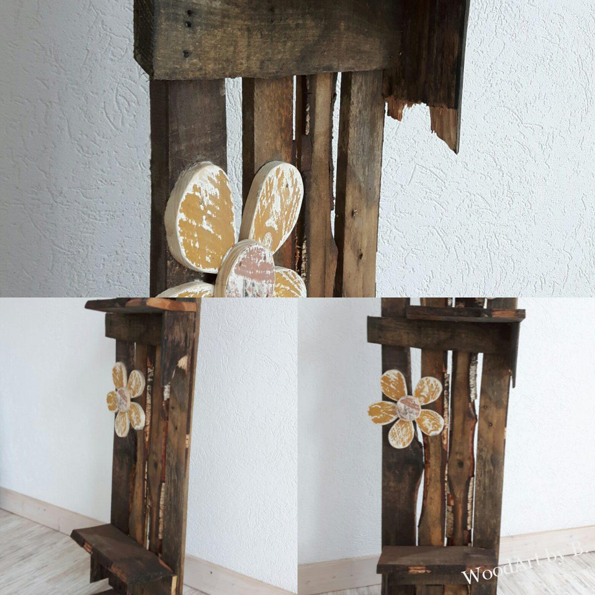 deko st nder aus alten brettern altholz woodart by b. Black Bedroom Furniture Sets. Home Design Ideas