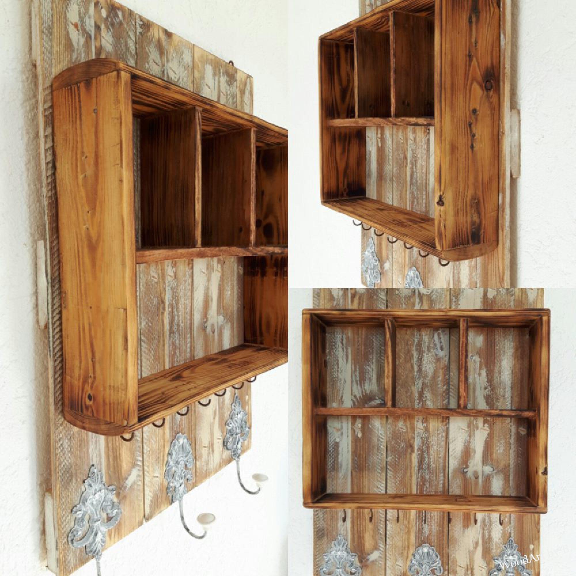 zwei herzen aus holz f r die wand woodart by b. Black Bedroom Furniture Sets. Home Design Ideas