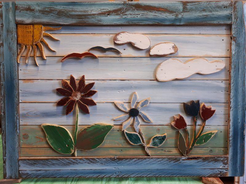 Garten,Sommerbild in 3D Dekoration und Accessoire