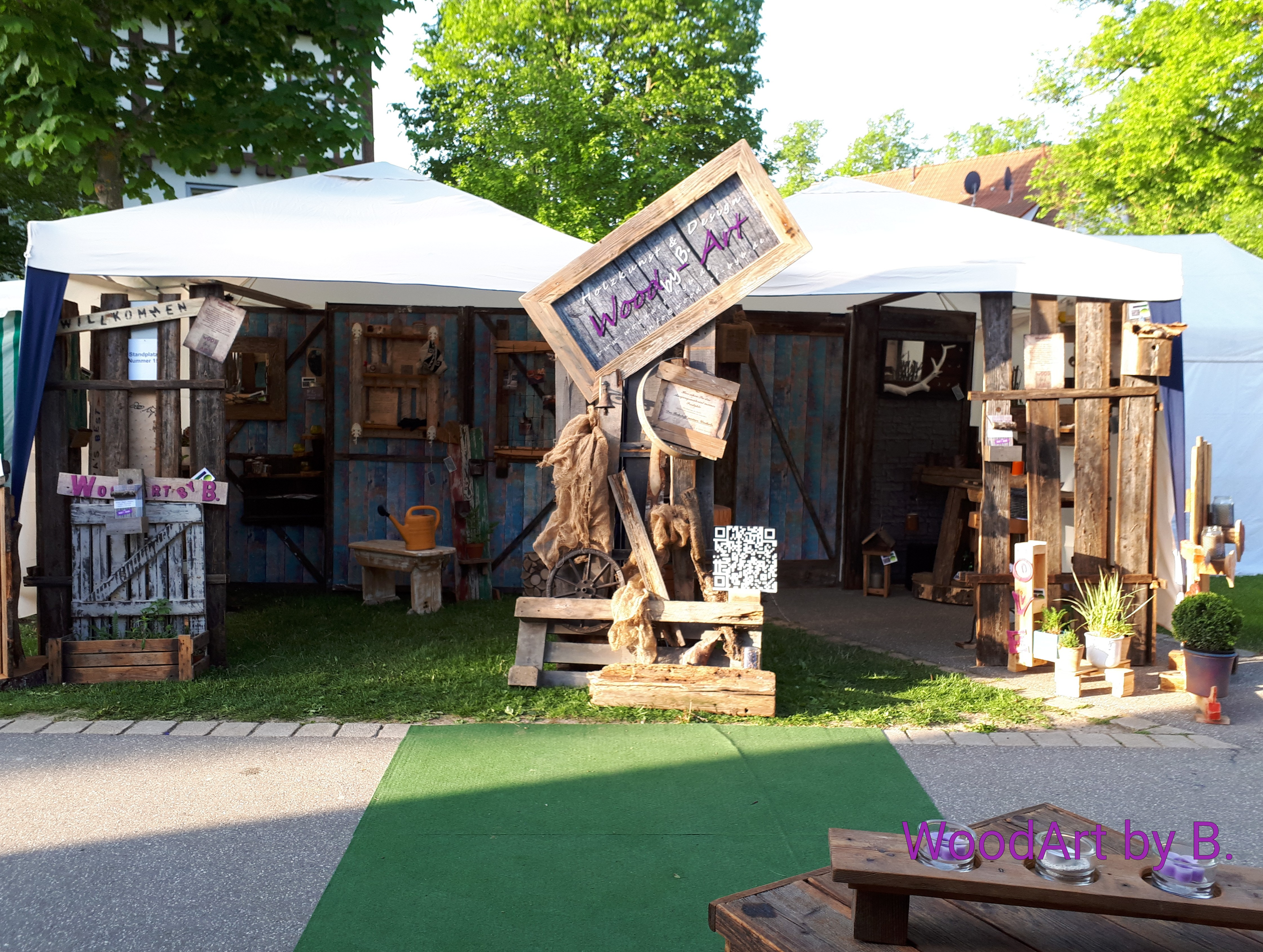 Bauern- und Kunsthandwerkermarkt Strassenfest, Messestand Gartenmesse Nagold 2018